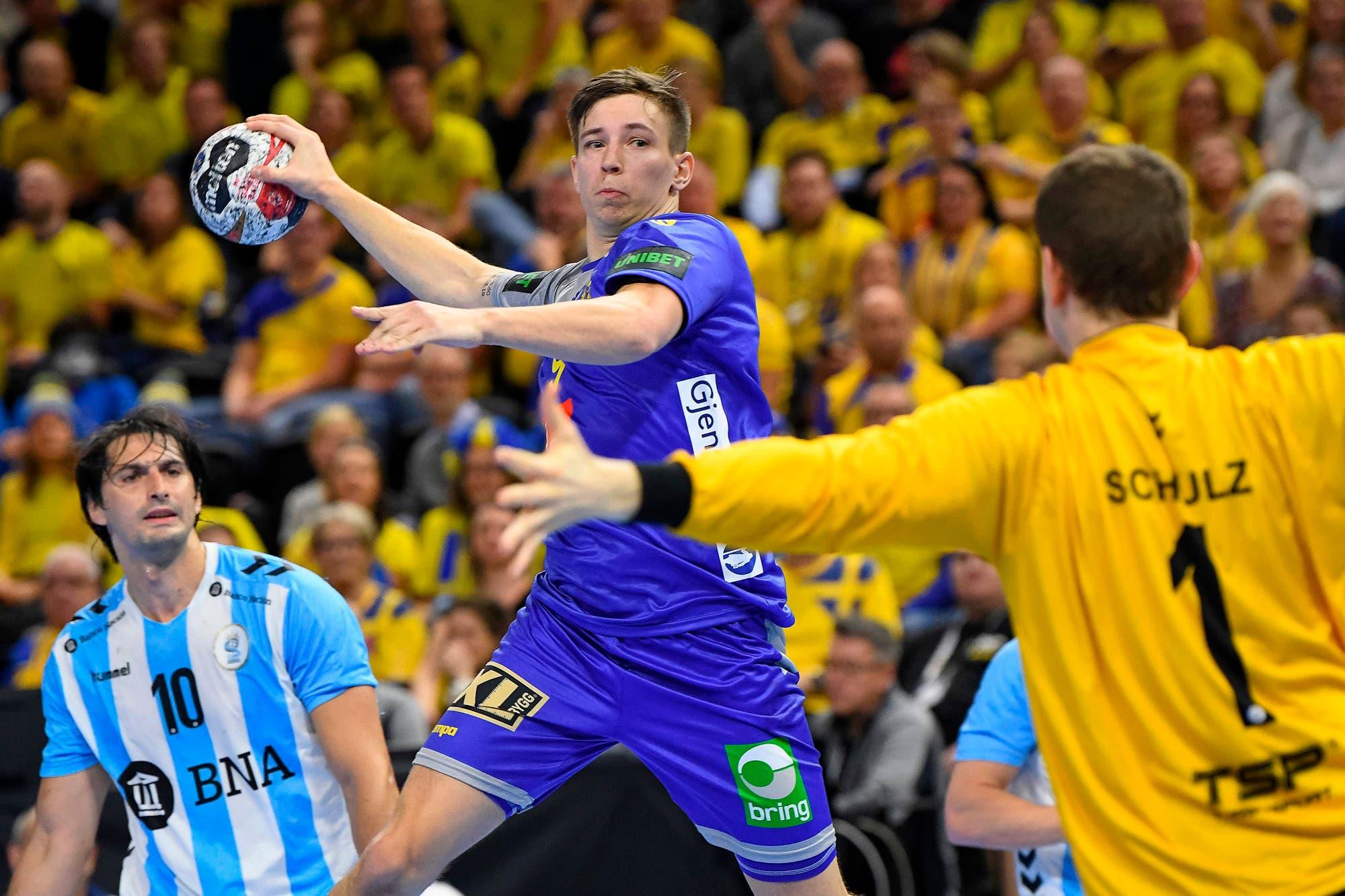 Mundial de handball: la Argentina dejó una buena imagen pese a la caída frente a Suecia