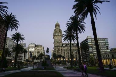 Una vista del centro de Montevideo