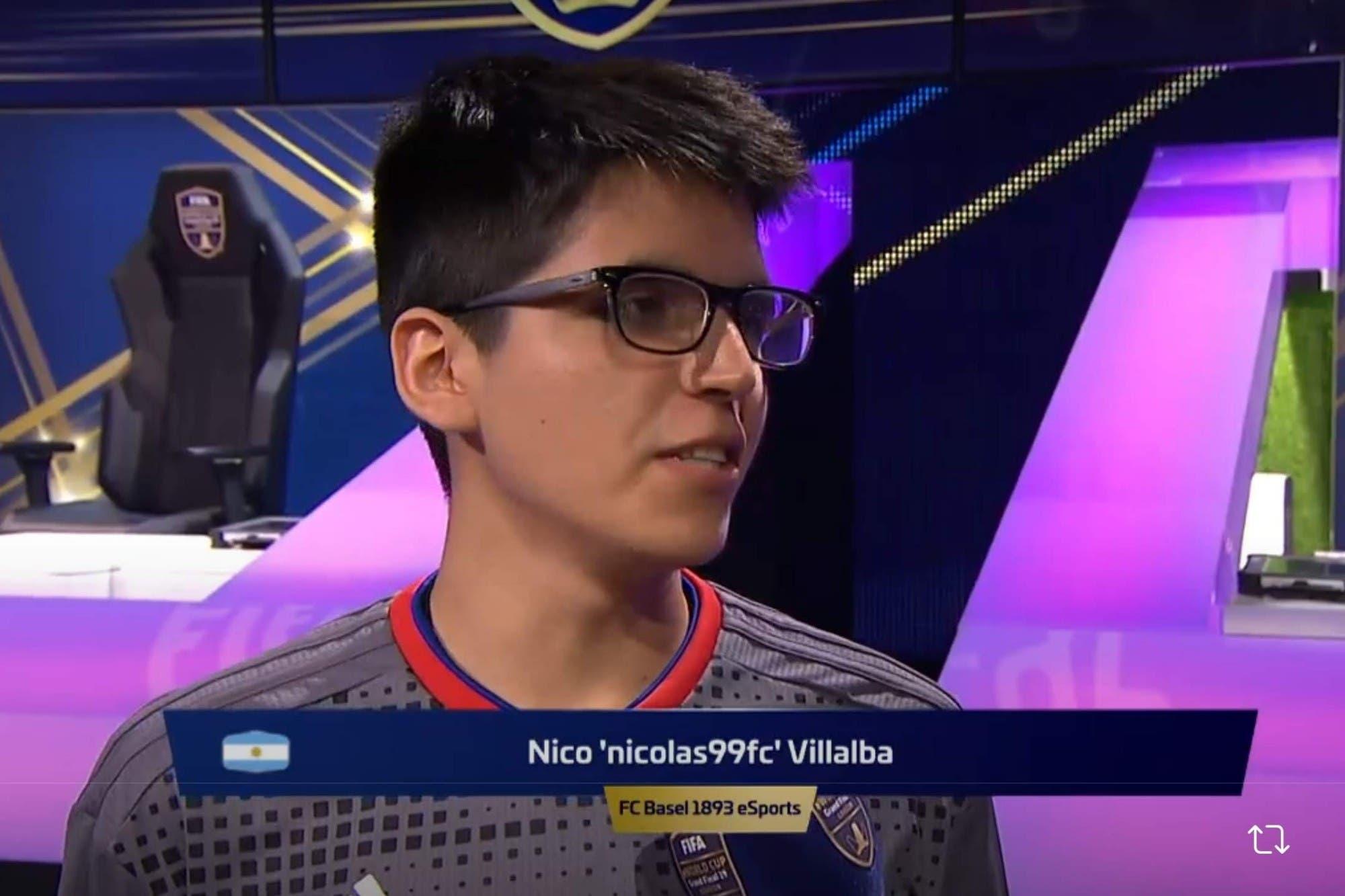 No pudo ser: Nicolás Villalba cayó en la semifinal del Mundial de FIFA 19