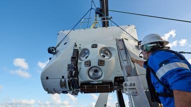 Las inmersiones se realizaron a bordo de un sumergible Tritón, construido para poder soportar las altas presiones del fondo del mar