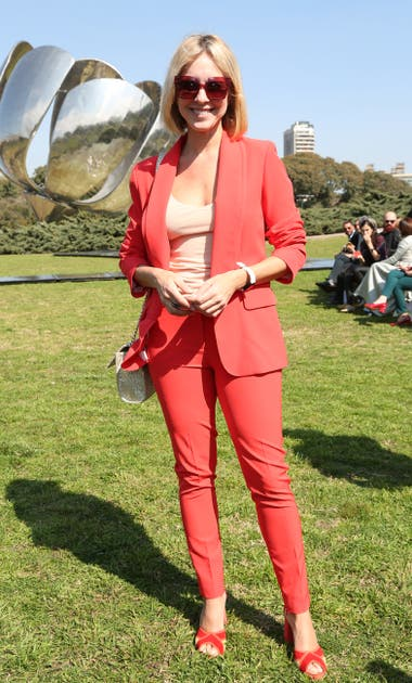 Carla Peterson en el desfile de Fabián Zitta