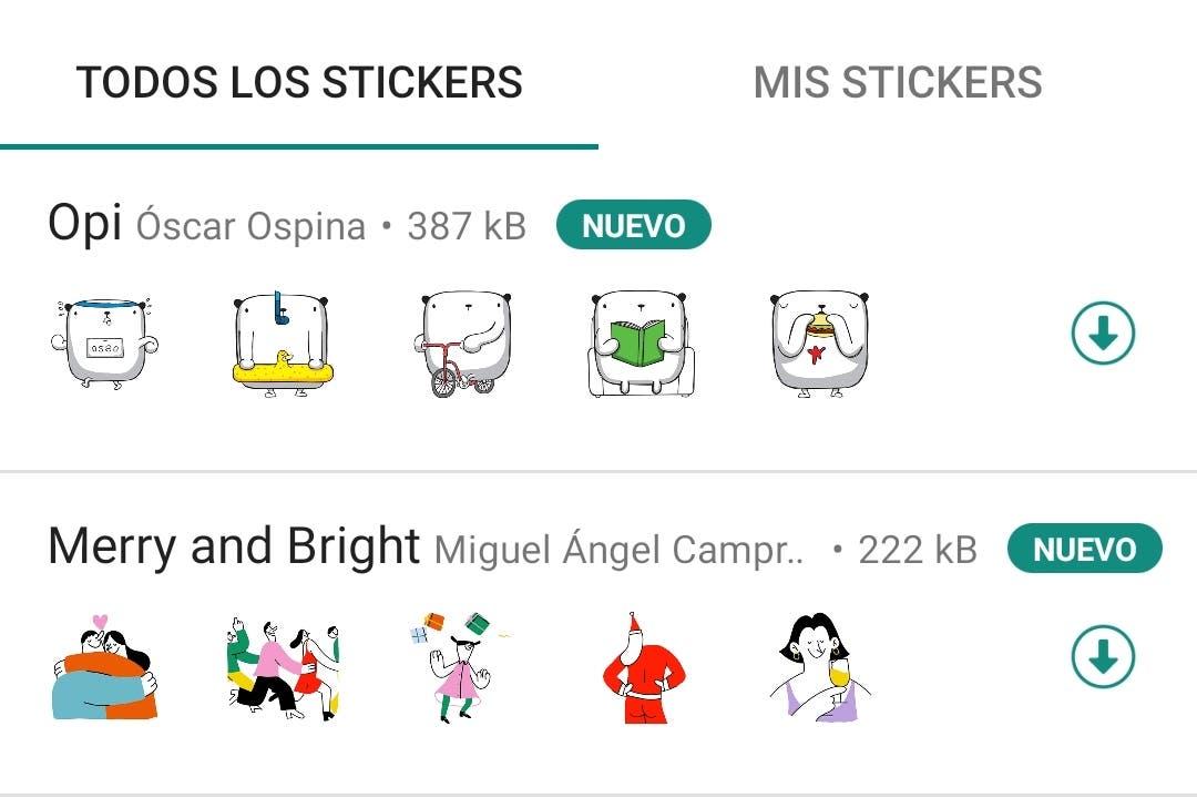 WhatsApp lanza su paquete oficial de stickers para celebrar Navidad y las fiestas de fin de año
