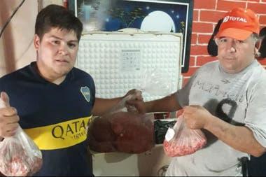Los productores donan para que la carne picada se distribuya en comedores, iglesias, por ejemplo