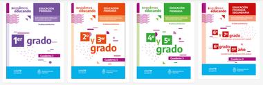 Algunos de los cuadernillos de educación primaria de la tercera fase
