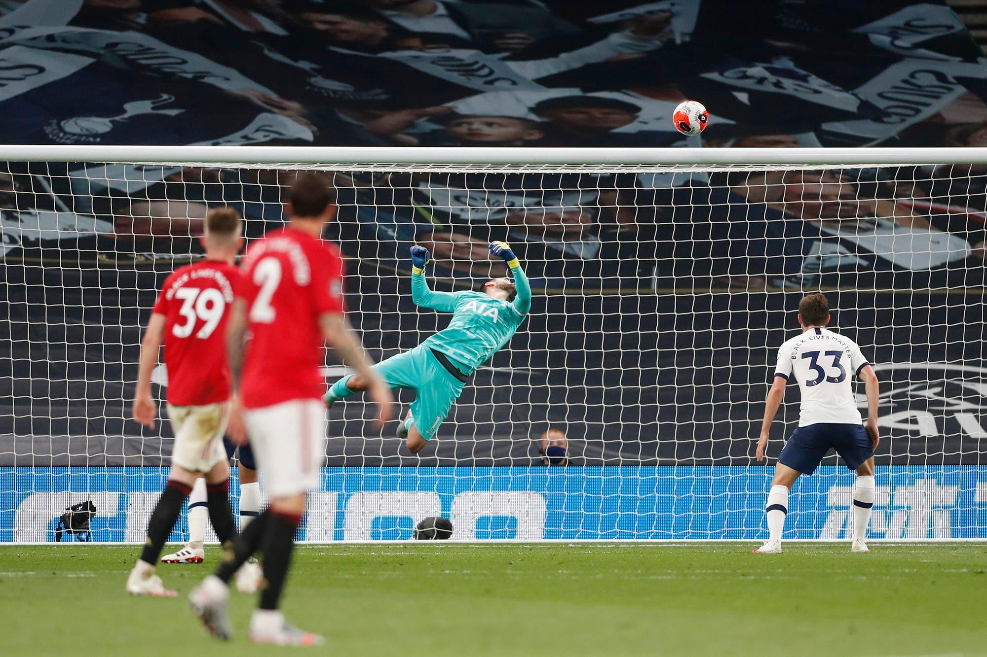 Tottenham-Manchester United, por la Premier League: una increíble atajada de Lloris y el enojo de Mourinho con el árbitro, las perlitas del empate