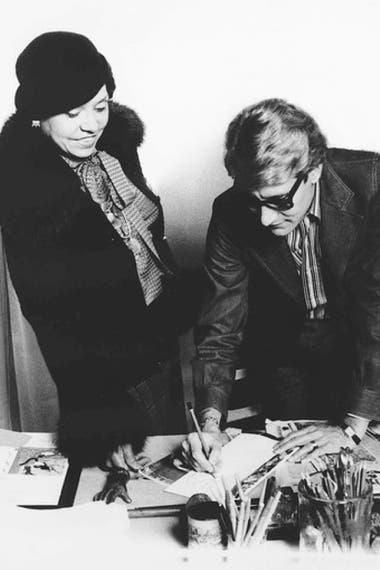Eunice Johnson e Yves Saint Laurent