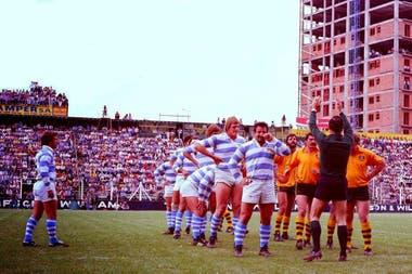 Los Pumas vs. Australia en Ferro, en 1979.