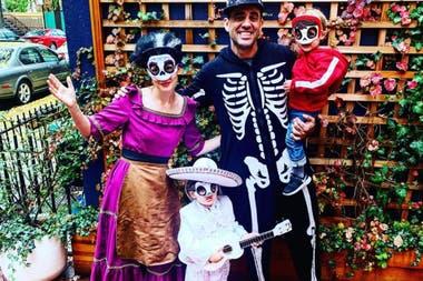 Rose y Bobby junto a sus dos hijos, Rocco y Rafa