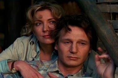 Richardson y Neeson en Una mujer llamada Nell