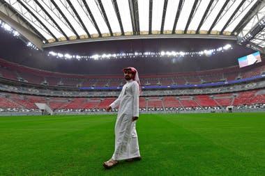 El estadio Al-Bayt, en Doha, la capital qatarí, uno de los recintos construidos para albergar la cita mundialista de 2022.