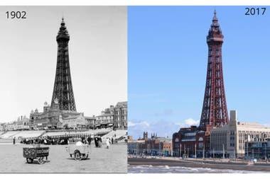 Blackpool Tower,Reino Unido: intacta de 1902 al 2017