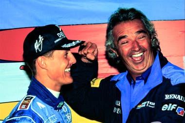 Schumacher y Briatore, en los tiempos de Benetton