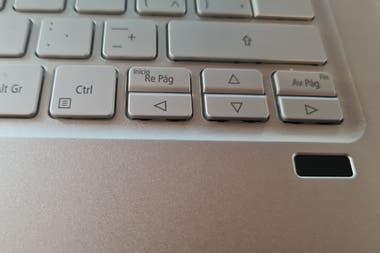 El sensor de huellas digitales de la Acer Swift 3
