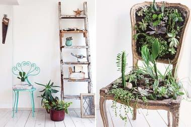 Un taller verde para dar rienda suelta a la creatividad for Silla que se hace escalera