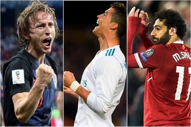 Modric, Ronaldo y Salah, los candidatos de la UEFA