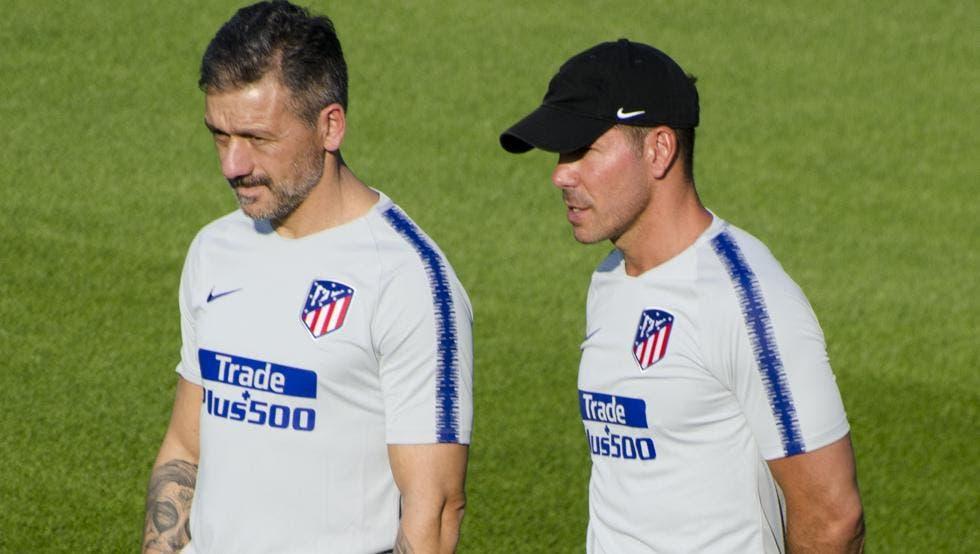 Vivas trabaja con Simeone en Atlético de Madrid desde 2018