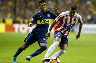 Díaz, en la Bombonera, cuando Junior jugó con el xeneize en la última Copa Libertadores
