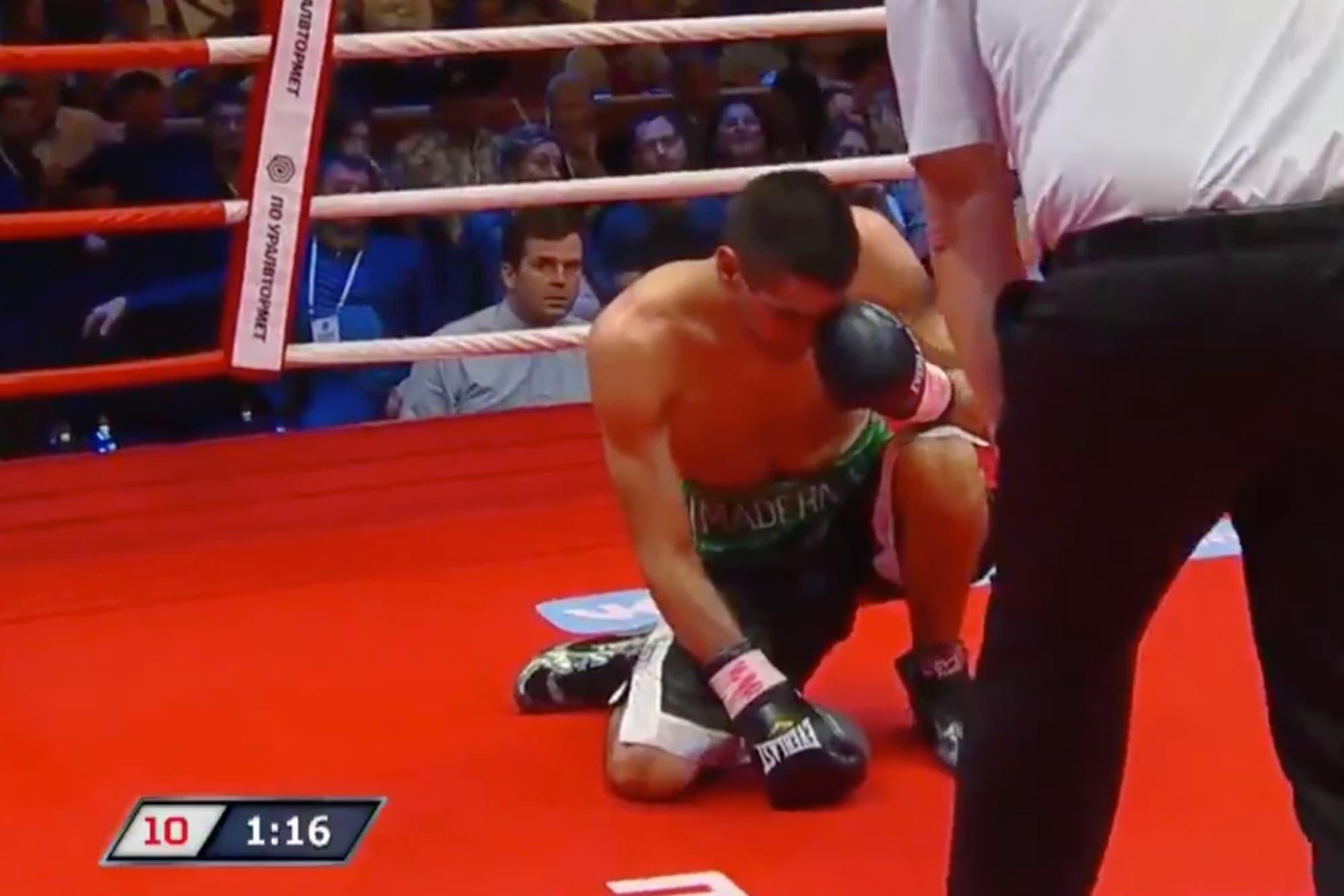 Boxeo: la derrota por KO que el argentino Ezequiel Maderna sufrió en la Plaza Roja de Moscú