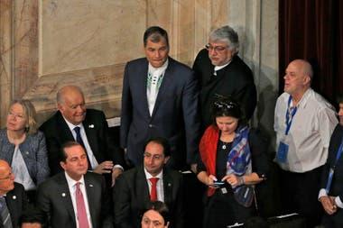 Rafael Correa de Ecuador y Fernando Lugo de Paraguay vinieros a la asunción de Alberto Fernández