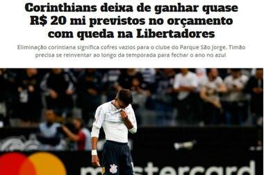 """""""Arcas vacías para el club"""", la eliminación de Corinthians será perjudicial para la economía del club en 2020"""