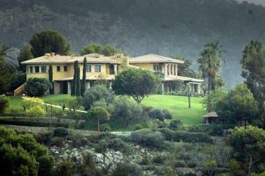 La casa donde estaría instalado Michael Schumacher junto con su familia, en Mallorca, España.