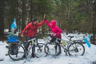 Ya pedalearon más de 13.000 kilómetros y recorrieron más del 60 por ciento de Italia