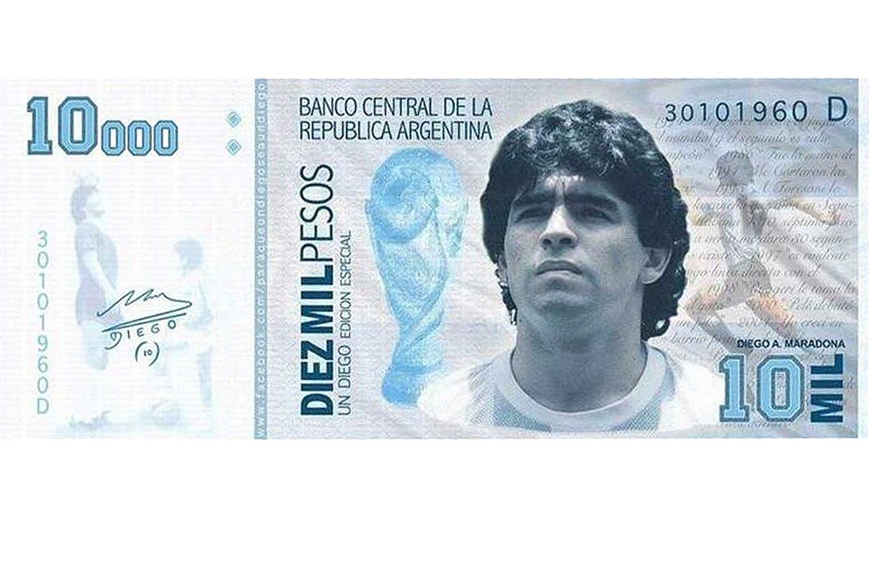 Senado: proponen que Diego Maradona aparezca en billetes y sellos postales