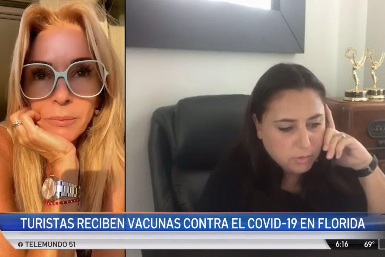 Coronavirus: duro informe de la TV de Estados Unidos sobre la vacunación de turistas argentinos en Miami