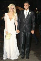 Vestido novia wanda nara