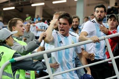 El enojo de los hinchas argentinos en Nizhny Nóvgorod