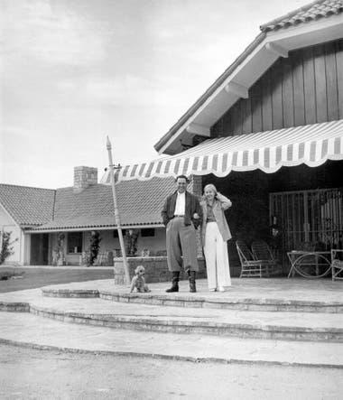 Juan y Eva Perón en la quinta de San Vicente