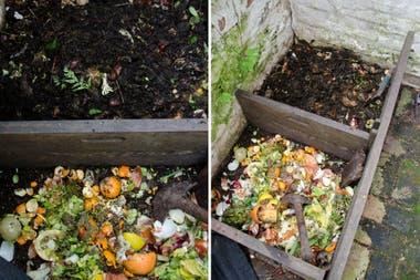 Una buena mezcla de restos orgánicos mejora la calidad final del compost.