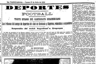 Portada del periódico La Vanguardia