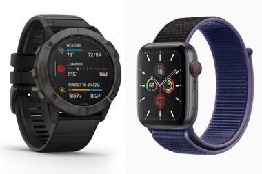 Los flamantes Garmin fenix 6x Pro Solar y Apple Watch Serie 5