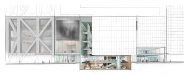 Plano de la fachada del nuevo MoMA