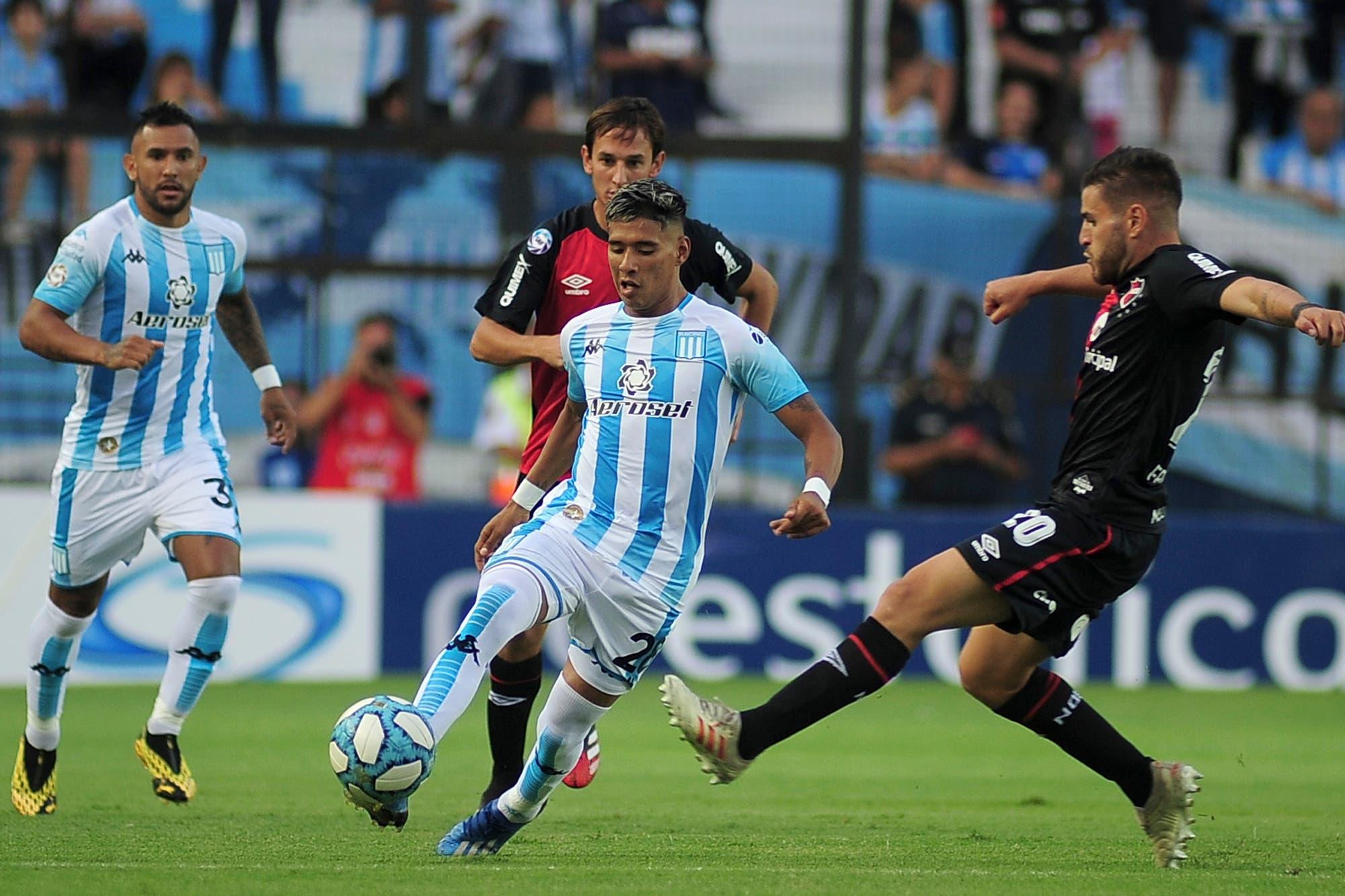 Racing-Newell's: Palacios anotó el gol del empate para los rosarinos