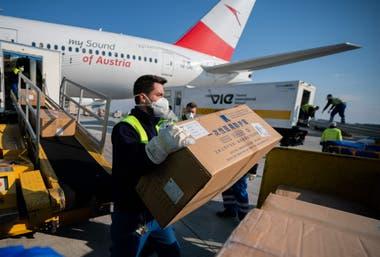 Más de 130 toneladas provenientes de China fueron despachadas hoy desde Viena hacia Italia