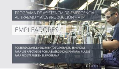 Quienes soliciten la baja del Programa de Asistencia de Emergencia al Trabajo y la Producción (ATP) podrán restituir los salarios devengados en abril hasta el 31 de mayo inclusive