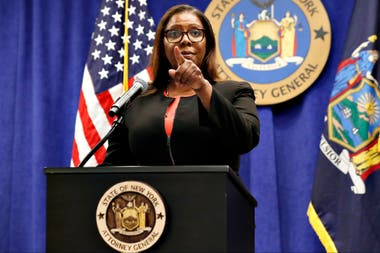 La fiscal general de Nueva York, Letitia James