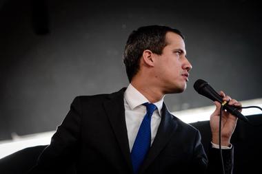 Juan Guaidó, presidente de la Asamblea Nacional de Venezuela y parcialmente reconocido como presidente encargado del país