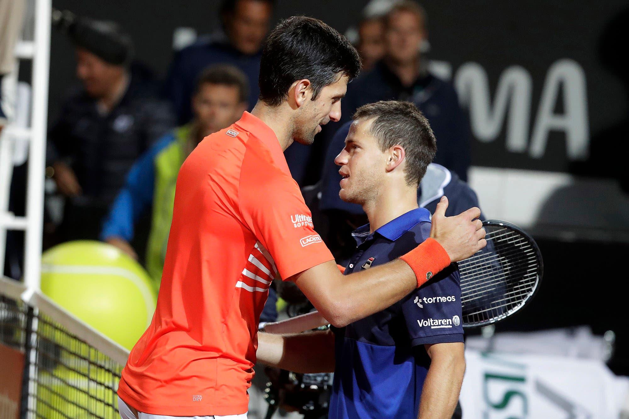 Diego Schwartzman-Novak Djokovic, por la final del ATP Masters 1000 de Roma: horario y TV