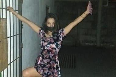 Pilar Durán en su lugar de detención. Hace dos meses había sido detenida por violar la cuarentena