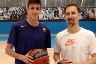 Leandro Bolmaro junto con Pepe Sánchez, el impulsor de su despegue definitivo
