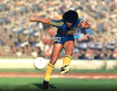 El primer Maradona de Boca, toda una obra de arte