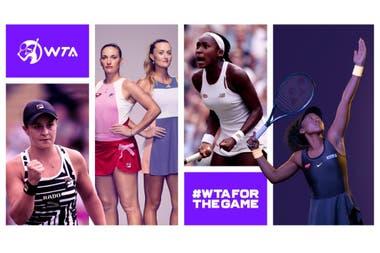 La WTA lanzó una nueva identidad corporativa, modificó el logotipo después de una década y simplificó las categorías de los torneos.