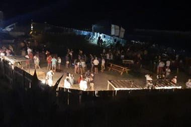 La fiesta en el balneario La Lejana, a mitad de camino entre Mar del Plata y Chapadmalal