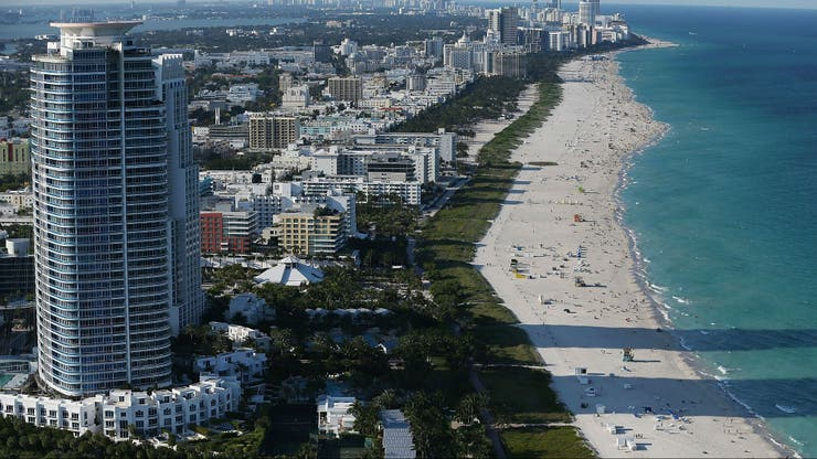 Vista aérea de Miami Beach