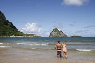 Praia do Sueste, dentro de los límites del Parque Nacional