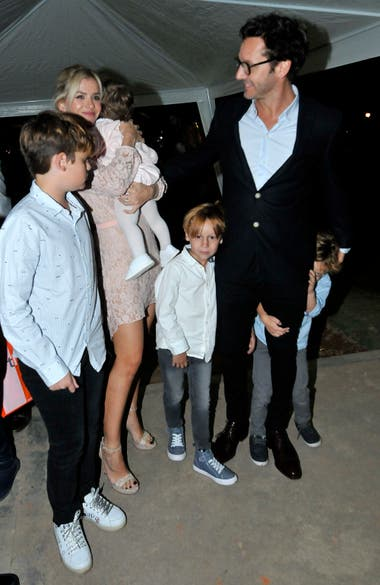 El actor chileno también estuvo con sus hijos