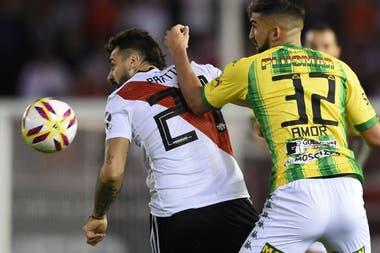 Pratto, con Amor: el delantero anotó el gol del 4-0.